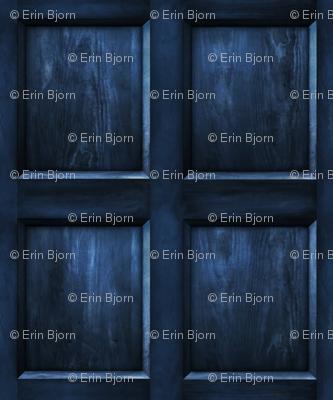 "BLUE BOX  Wood dark 5"" panels"