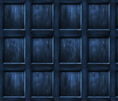 "BLUE BOX  Wood dark 5"" panels fabric by bjornonsaturday on Spoonflower - custom fabric"