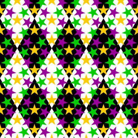 U53 V1 harlequin mardi gras fabric by sef on Spoonflower - custom fabric