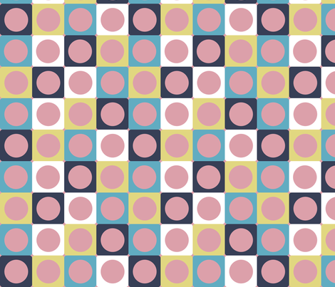 Cat Dots (pink) fabric by edmillerdesign on Spoonflower - custom fabric