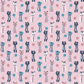 Retro Pink Cats