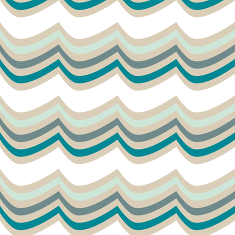 OceanWaves fabric by mrshervi on Spoonflower - custom fabric