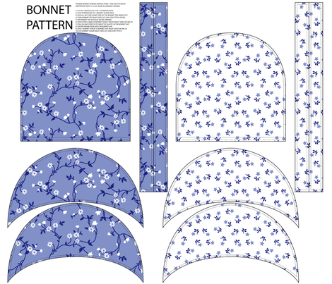 Bonnet Pattern Vines and Stars fabric by janelle_wooten on Spoonflower - custom fabric