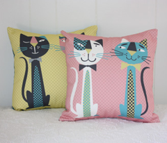 Retro Cats Bedroom Accessories