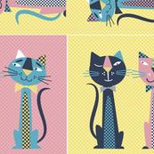 Retro Cats Bedroom Accessories