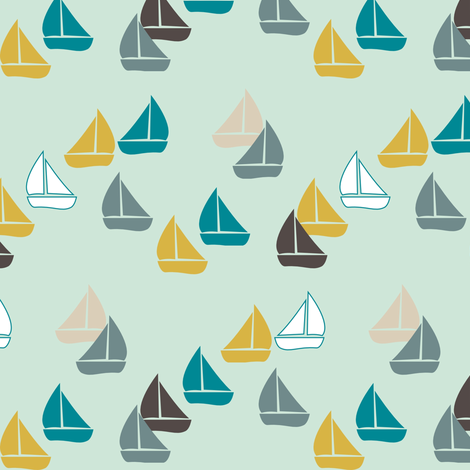 SailBoats fabric by mrshervi on Spoonflower - custom fabric
