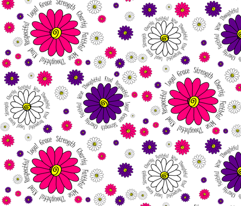 Daisy Girls fabric by hmooreart on Spoonflower - custom fabric