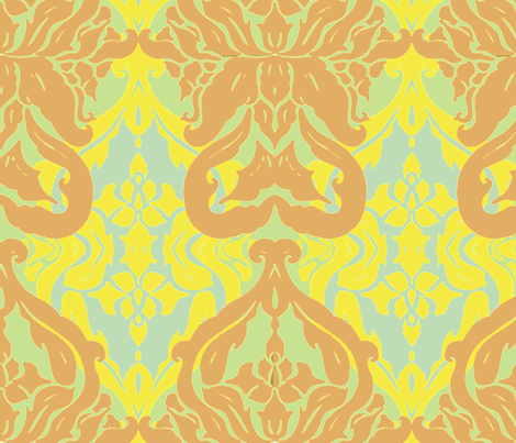 Coloured_Damask fabric by jae_ess_kay on Spoonflower - custom fabric