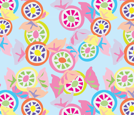 Mmmm Candy - Wrappers - 2 fabric by owlandchickadee on Spoonflower - custom fabric