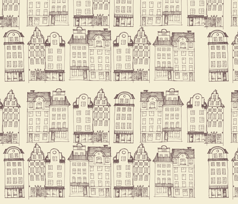 StockholmSketch fabric by mrshervi on Spoonflower - custom fabric