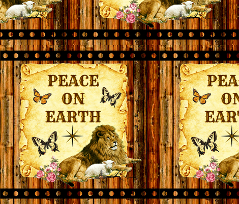 The Lion Lays Down With The Lamb fabric by whimzwhirled on Spoonflower - custom fabric