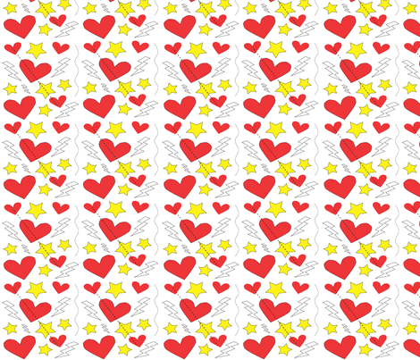 Love Starz fabric by ronnyjohnson on Spoonflower - custom fabric