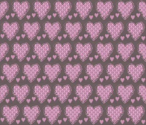 Melt away heart fabric by tajaan on Spoonflower - custom fabric