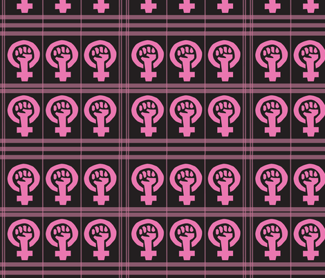 Girl Power Plaid fabric by ronnyjohnson on Spoonflower - custom fabric