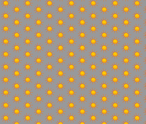 Happy Suns in Grey fabric by kbexquisites on Spoonflower - custom fabric
