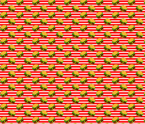Cheeseburger Dream Stripe fabric by cindersonfiber on Spoonflower - custom fabric