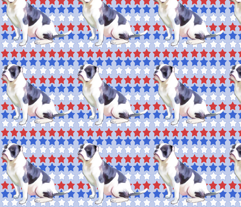 alahapa_blueblood_bulldog fabric by dogdaze_ on Spoonflower - custom fabric