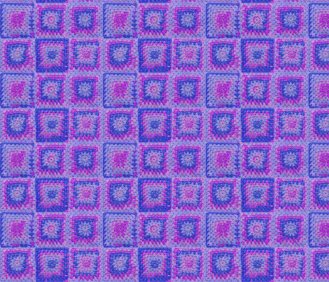 Circle in a Square - Medium Blues and Purples fabric by nezumiworld on Spoonflower - custom fabric