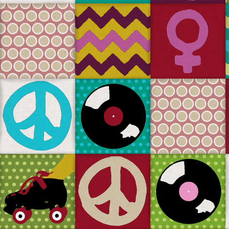 patch girl fabric by scrummy on Spoonflower - custom fabric