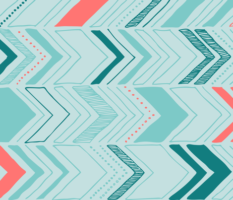 Chevron - mint fabric by flytrap on Spoonflower - custom fabric