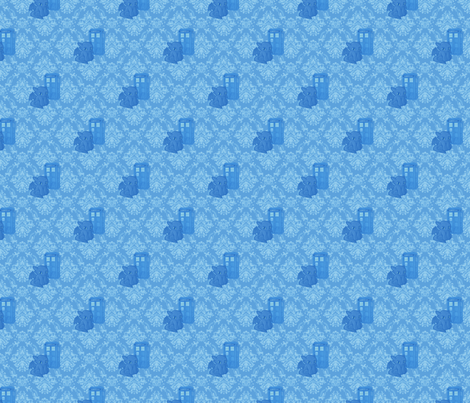 Toothless Who Blue fabric by kyatastic on Spoonflower - custom fabric