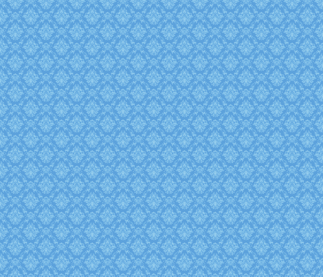 Blue Damask fabric by kyatastic on Spoonflower - custom fabric