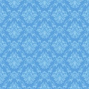 Blue Damask