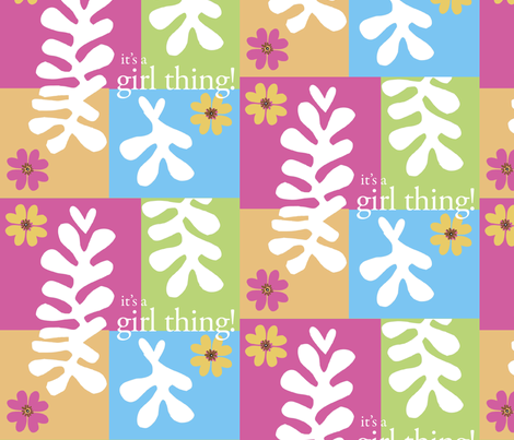 It's a Girl Thing! fabric by cdhatcher on Spoonflower - custom fabric