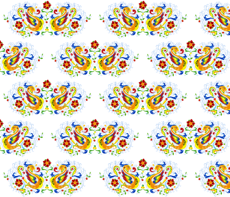 Double Dragon Deruta fabric by happyhappymeowmeow on Spoonflower - custom fabric
