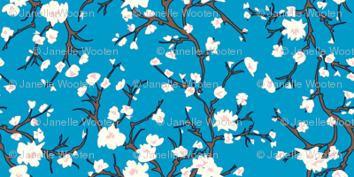Almond Blossom in blue