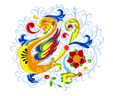 Big Deruta Dragon fabric by happyhappymeowmeow on Spoonflower - custom fabric