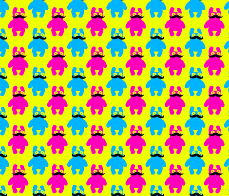 Peepas with Mustaches fabric by cuddlebat on Spoonflower - custom fabric