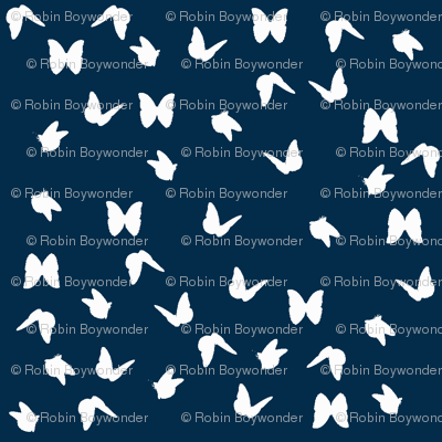 white butterfly on navy