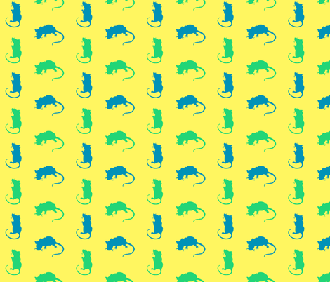 Rats fabric by cuddlebat on Spoonflower - custom fabric