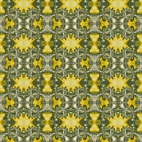 Yellow and Green Fractal Pattern
