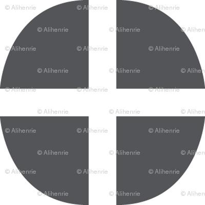 circles gray and white