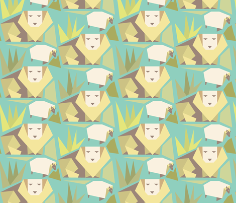 lionlamb2 fabric by hundred_some_odd on Spoonflower - custom fabric