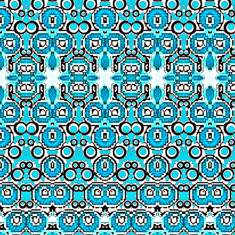 Aqua blue india design fabric by dk_designs on Spoonflower - custom fabric