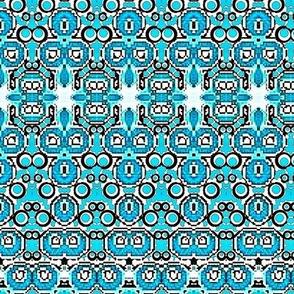 Aqua blue india design