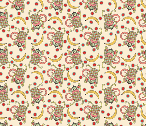 Mr. Marbles the Monkey - Light fabric by mag-o on Spoonflower - custom fabric