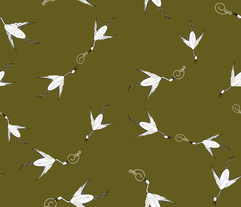 Beauty_in_Flight fabric by designergena on Spoonflower - custom fabric
