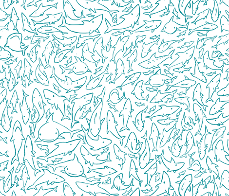 Sharks! fabric by ptchew on Spoonflower - custom fabric