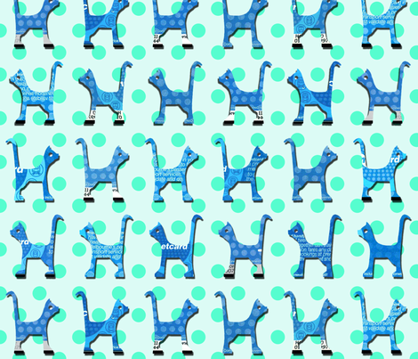 itty_bitty_kitty_bluetoo_large fabric by kirstylovescardboard on Spoonflower - custom fabric