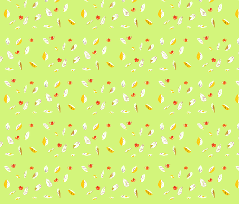 red_flowers fabric by rachana on Spoonflower - custom fabric