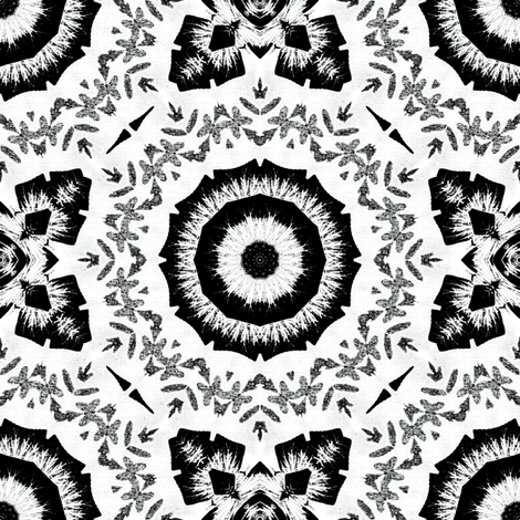 Black_on_white fabric by kickyc on Spoonflower - custom fabric