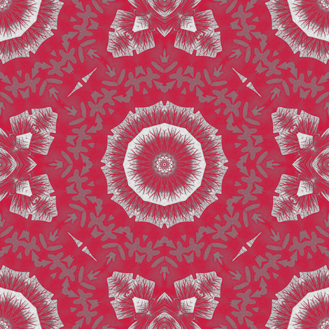 Grey_on_Rose fabric by kickyc on Spoonflower - custom fabric