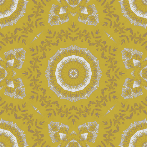 Gold fabric by kickyc on Spoonflower - custom fabric