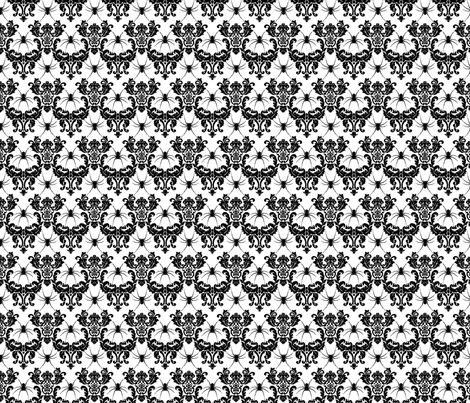 spider damask black on white fabric by starlings_law on Spoonflower - custom fabric