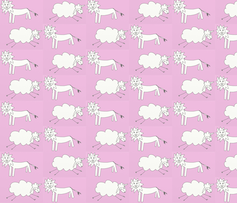 Lion&lamb fabric by tajaan on Spoonflower - custom fabric