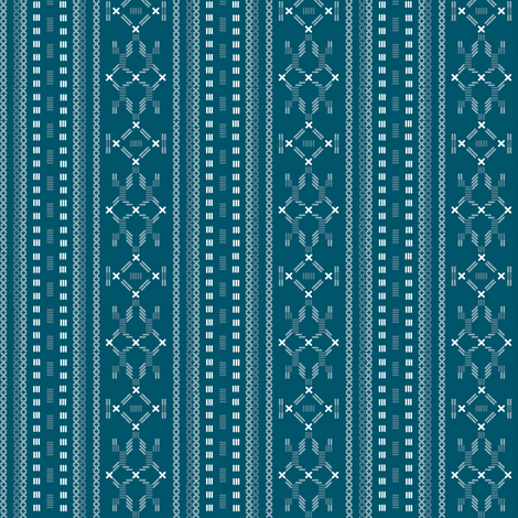 apron print in blue